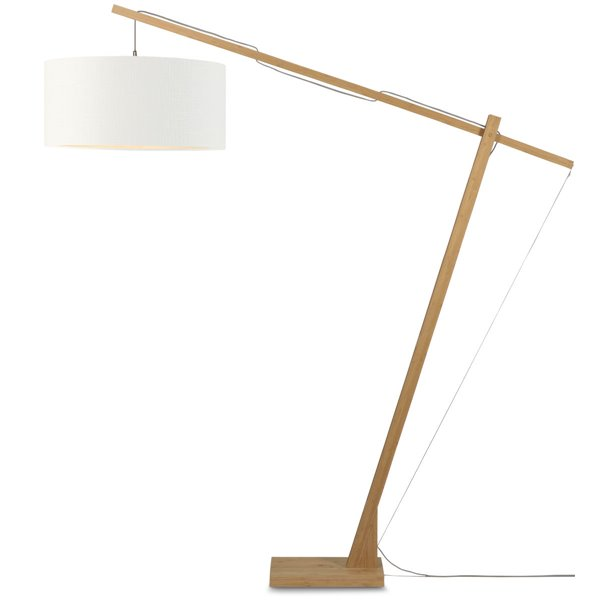 it's about RoMi Vloerlamp Montblanc bamboe 6030 linnen wit