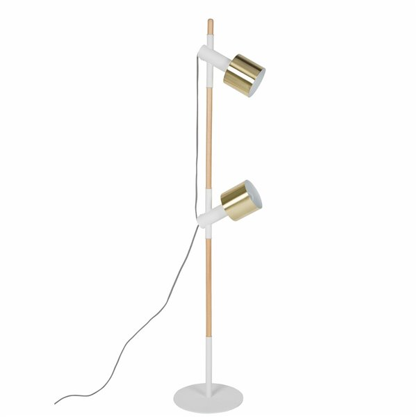 Zuiver Ivy Vloerlamp - wit / messing
